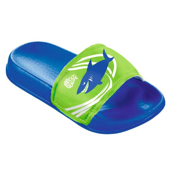 Beco Sealife Badepantolette für Kinder, blau