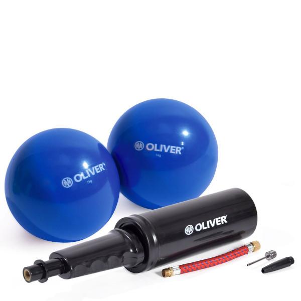 OLIVER Gewichtsbälle 2 x 1.0kg mit Pumpe