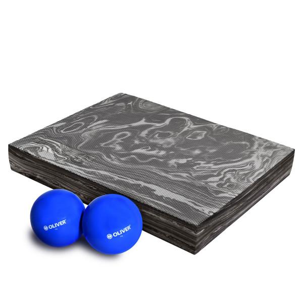OLIVER Gewichtsbälle 2x 1kg & Balance Pad Kombi