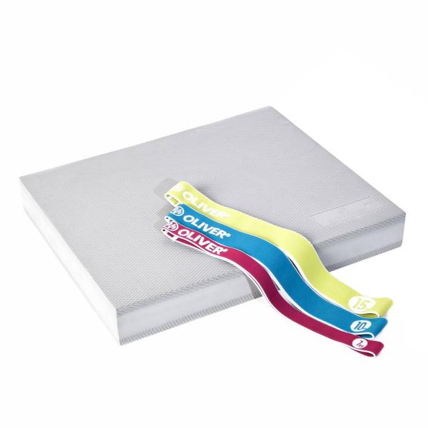 DITTMANN Balance Pad TPE silber mit Tex-O Miniband 3er-Set