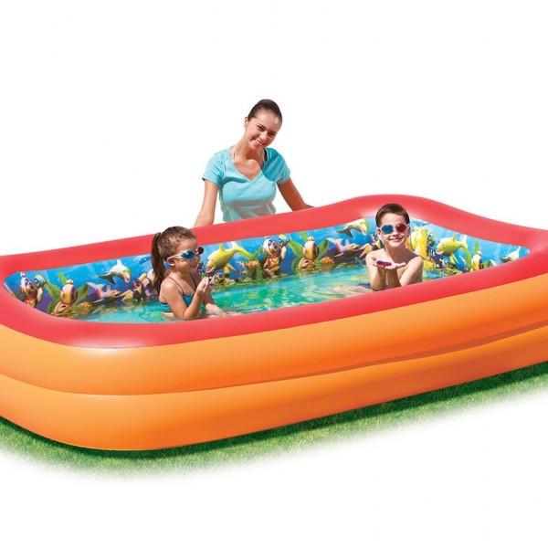 Bestway Planschbecken Splash &Play interactive 3D Adventure Family Pool