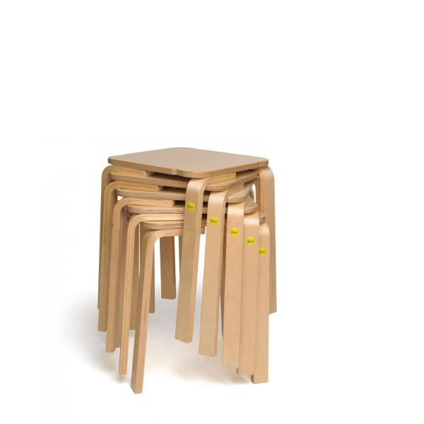 Sparpakete Erzi Hocker 45 aus Formholz stapelbar
