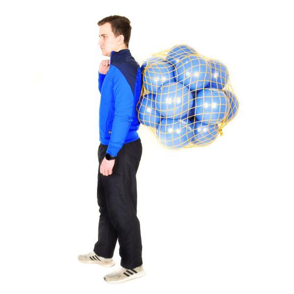 16 DITTMANN Pilatesbälle 22cm Ø plus Ballnetz