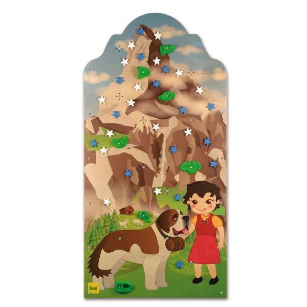 Erzi Kletterwand Bergwelt