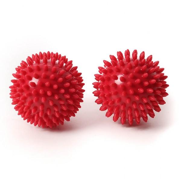 SISSEL® Spiky Ball 9 cm, rot 2er Set