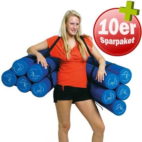 10er Paket SISSEL Pilates Roller PRO plus 2 Tragegurte