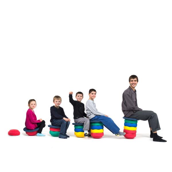 Joboo - Kreisel- & Stapelstein 21er Set