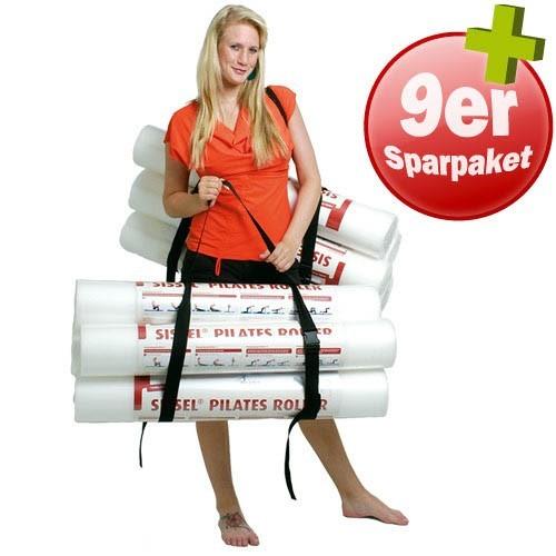 PILATES PAKET 9 x SISSEL Pilates Roller PLUS 2 x Tragegurte