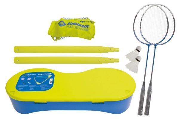 Schildkröt Badminton Set Compact (Netz, 2 Schläger, 2 Bälle)