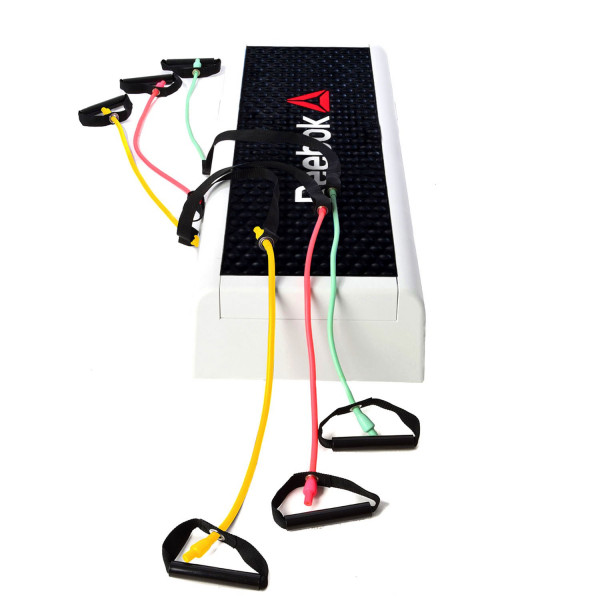 REEBOK Step black & white mit drei Step-Tubes Level 1-3