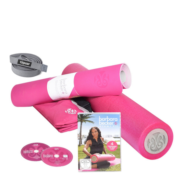 Barbara Becker Fitness Set mit Tiguar Yoga Gurt