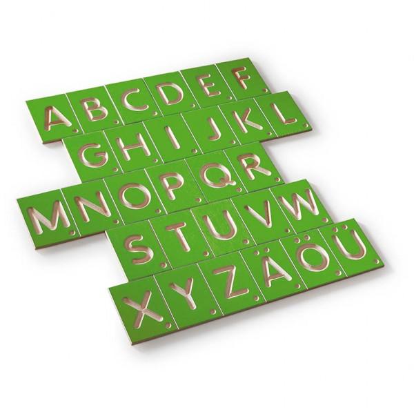 Erzi Lernspiel Großbuchstaben, 29 Teile
