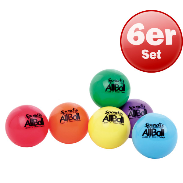 Spordas All Balls, 7.6cm Ø - 6er Set