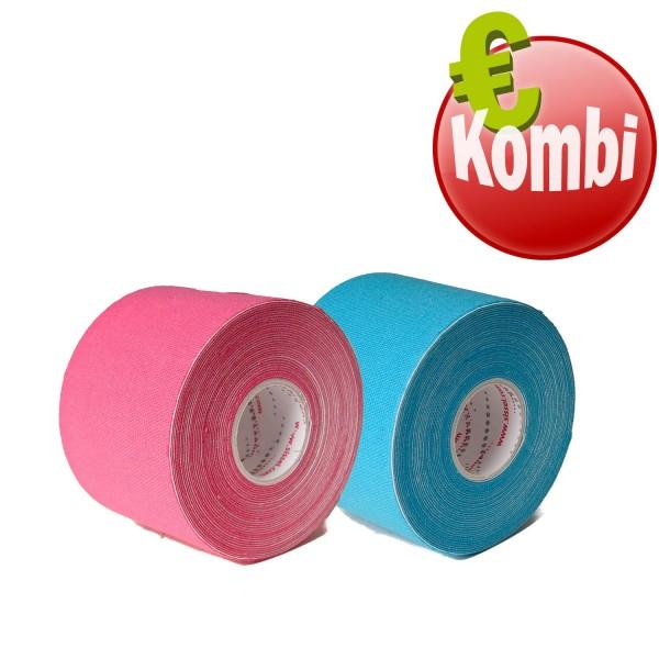 SISSEL® Kinesiology Tape 2er Kombi blau und pink
