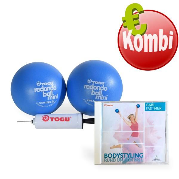 TOGU Redondo® Ball mini 14 cm - 2er Set + CD Bodystyling Rund um den Ball