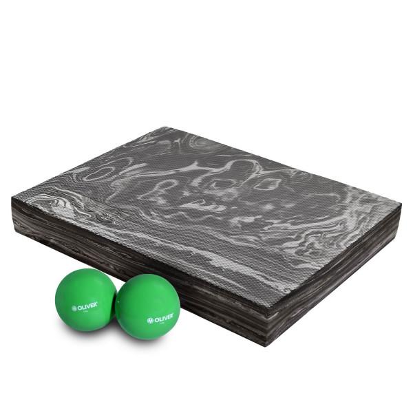 OLIVER Gewichtsbälle 2x 0.5kg & Balance Pad Kombi