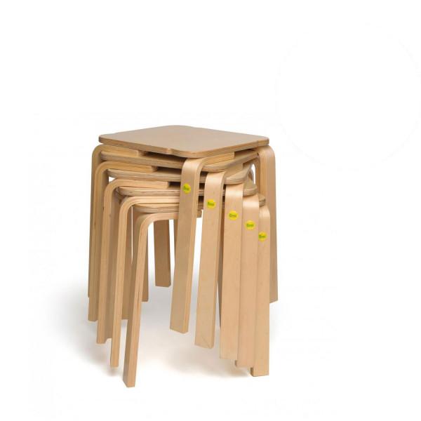 Sparpakete Erzi Hocker 48 aus Formholz stapelbar