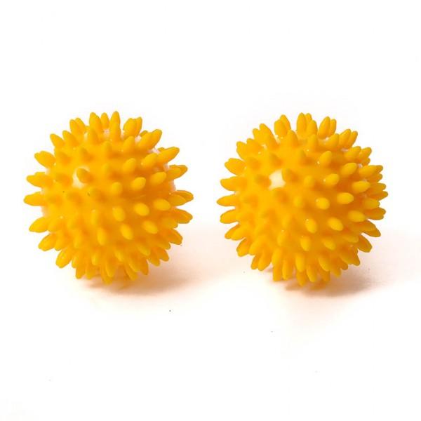 SISSEL® Spiky Ball 8 cm, gelb 2er Set