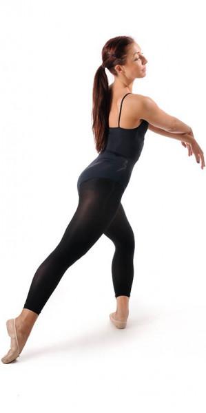 Ballettstrumpfhose 'Footless' schwarz