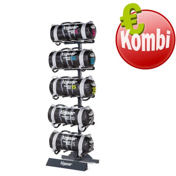 Tiguar Smart Powerbagständer mit 5 Powerbags (5-25 kg)