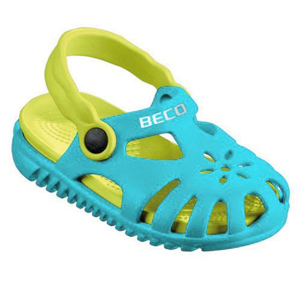Beco Sandale für Kinder - türkis/lemon