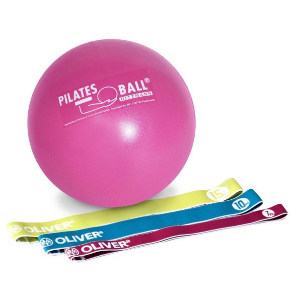OLIVER Tex-O Miniband 3er Set mit Pilatesball 26 cm ø