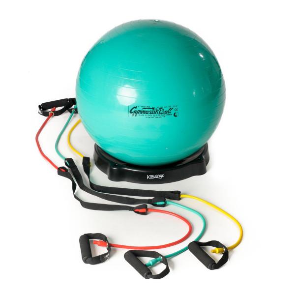 Original Pezzi® Gymnastikball STANDARD 65 cm, Ballschale & 3 Tubes Kombi