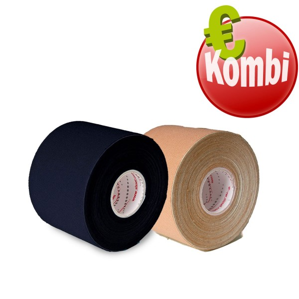 SISSEL® Kinesiology Tape 2er Kombi schwarz und beige