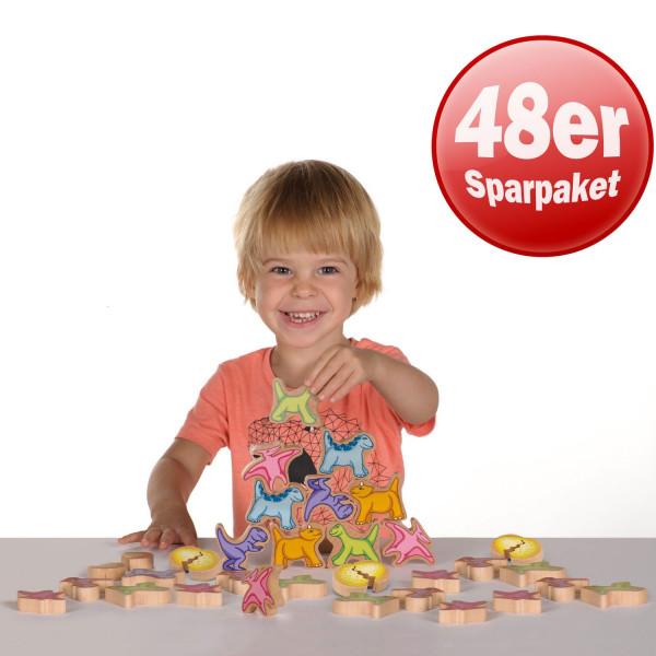 Erzi Stapelsaurier XL, 48 Teile